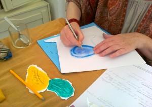 Tekenen tijdens de workshop