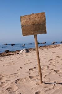 je leven vereenvoudigen, een bord zonder bericht